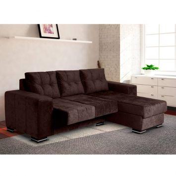 Sofa hellen mobly for Sofa 03 lugares com chaise