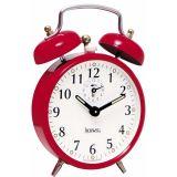 Despertador Mecânico Vermelho 14x9x6