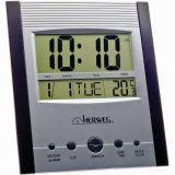 Relógio de Parede Digital Preto 25x25x2