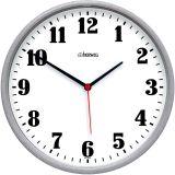 Relógio de Parede Quartz Cinza 26x26x4