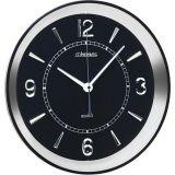 Relógio de Parede Quartz Prata 34x34x4