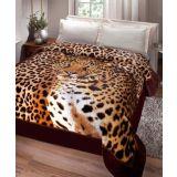 Cobertor Casal Padrão Kyor Plus Leopardo 01 Peça - Estampado