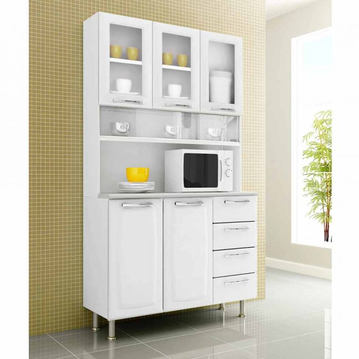 Armário de Cozinha Kit Anita Smart I -5PT-4GV Aço Branco|Itatiaia