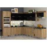 Cozinha Modulada Composição 11 Audace  - Carvalho com Preto