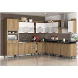 Cozinha Modulada Composição 12 Audace - Carvalho com Branco