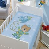 Cobertor Infantil Astronauta - Jolitex-Azul