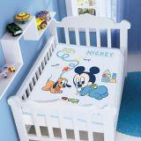Cobertor Infantil Disney Mickey com Pluto - Jolitex-Azul