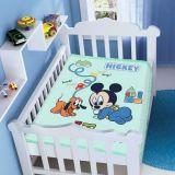 Cobertor Infantil Disney Mickey com Pluto - Jolitex-Verde