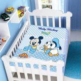 Cobertor Infantil Disney Mickey e Amiguinho - Jolitex-Azul