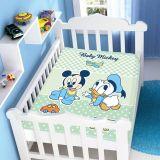 Cobertor Infantil Disney Mickey e Amiguinho - Jolitex-Verde