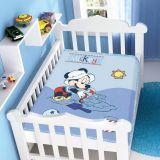 Cobertor Infantil Disney Mickey na Bege - Jolitex-Azul
