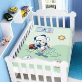 Cobertor Infantil Disney Mickey na Bege - Jolitex-Verde