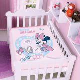 Cobertor Infantil Disney Minnie Patinhos - Jolitex-Rosa