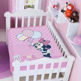 Cobertor Infantil Disney Minnie com Balões - Jolitex-Rosa