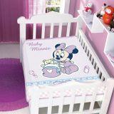 Cobertor Infantil Disney Minnie com Bercinho - Jolitex-Lilás