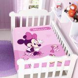 Cobertor Infantil Disney Minnie na Bege - Jolitex-Rosa