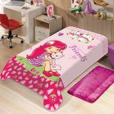 Cobertor Infantil Disney Moranguinho - Jolitex-Moranguinho