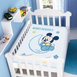 Cobertor Infantil Poliéster Disney Sortido Azul