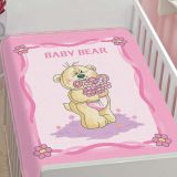 Cobertor Infantil Tradicional Baby Bear - Jolitex-Rosa