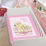 Cobertor Infantil Tradicional Baby Pets - Jolitex-Rosa