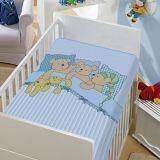 Cobertor Infantil Ursinho Soneca Azul - Jolitex-Azul