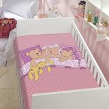 Cobertor Infantil Ursinho Soneca Rosa - Jolitex-Rosa