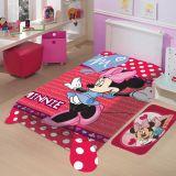 Cobertor Juvenil Poliéster Disney Minnie Vermelho