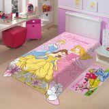 Cobertor Juvenil Poliéster Disney Princesas Rosa