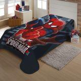 Cobertor Juvenil Poliéster Marvel Homem Aranha Azul