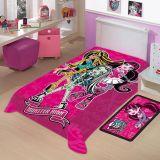 Cobertor Juvenil Poliéster Mattel Monster High Rosa