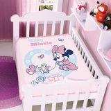 Cobertor de Microfibra Raschel Infantil Jolitex - Minnie Patinhos