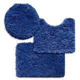 Jogo de Banheiro Encanto Liso 3 Peças T3 Azul