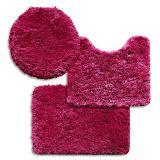 Jogo de Banheiro Encanto Liso 3 Peças T3 Pink