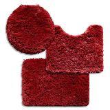 Jogo de Banheiro Encanto Liso 3 Peças T3 Vermelho