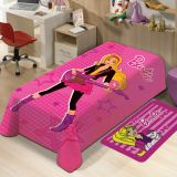 Manta Juvenil de Microfibra Mattel Barbie I Rosa