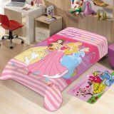 Manta Juvenil de Microfibra Softlight Disney Princesas Rosa