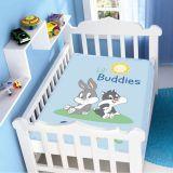 Manta Microfibra Looney Tunes Baby Lil Buddies Azul - Jolitex-Azul