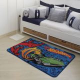 Tapete Orient Matel Hot Wheels A  Azul  80x120cm