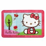 Tapete Oriental Hello Kitty no Parque  Azul 80x120cm