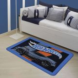 Tapete Oriental Matel Hot Wheels Style  Azul  80x120cm