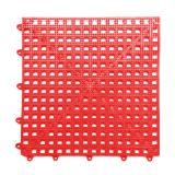Tapete de Banheiro Antiderrapante  30x30 Vermelho 6 peças KAPAZI