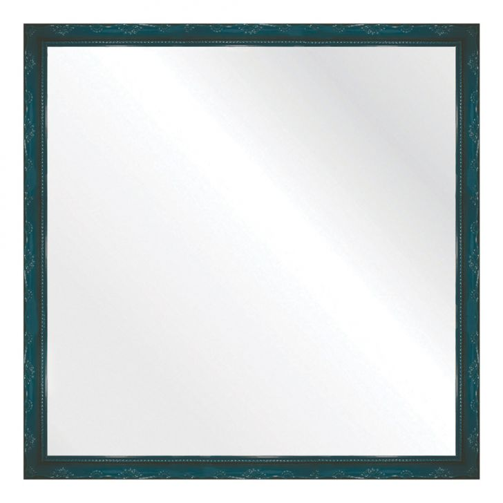 Espelho Brilho Rococo Azul 56x56cm DESCONTO DE R$: 96,00 (54,86% OFF) - OFERTA MOBLY