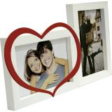 Painel Love Para Mesa 2 Foto Branco Com Vermelho 61065