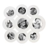 Painel New Round para 7 fotos 10x10 e 2 Fotos 15X15 Branco Kapos