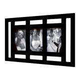 Painel Sleek para 3 Fotos 10x15 Preto Kapos