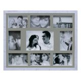 Painel de Fotos Bee Collection 43X53 Rustics 8 Fotos 10x15 e 1 Foto 15x21 Branco Kapos