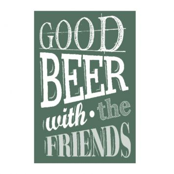 Placa decorativa Good Beer Whit The Friends 20x30 cm Kapos 66258