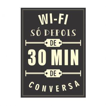 Placa decorativa Wi Fi 20x30 cm Preto Kapos 66261