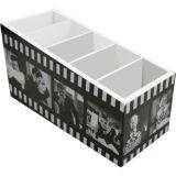 Porta Controle 5 Divisões Artista Cinema 9 x 21 cm Branco