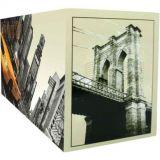 Porta Controle Cinco Divisões New York 10 x 22 cm Bege e Preto